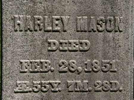 MASON, HARLEY - Erie County, Ohio   HARLEY MASON - Ohio Gravestone Photos