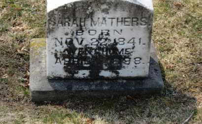 MATHERS, SARAH - Erie County, Ohio   SARAH MATHERS - Ohio Gravestone Photos