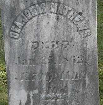 MATHEWS, JONAS - Erie County, Ohio | JONAS MATHEWS - Ohio Gravestone Photos