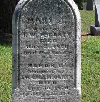 MCCARTY, SARAH D. - Erie County, Ohio | SARAH D. MCCARTY - Ohio Gravestone Photos