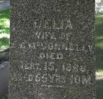 MCCONNELLY, DELIA - Erie County, Ohio | DELIA MCCONNELLY - Ohio Gravestone Photos