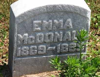 MCDONALD, EMMA - Erie County, Ohio | EMMA MCDONALD - Ohio Gravestone Photos