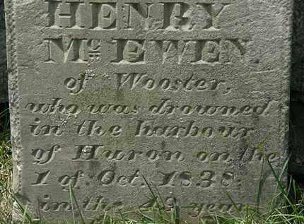 MCEWEN, HENRY - Erie County, Ohio | HENRY MCEWEN - Ohio Gravestone Photos