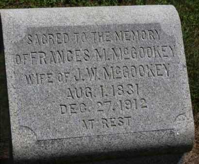 MCGOOKEY, FRANCES M. - Erie County, Ohio | FRANCES M. MCGOOKEY - Ohio Gravestone Photos