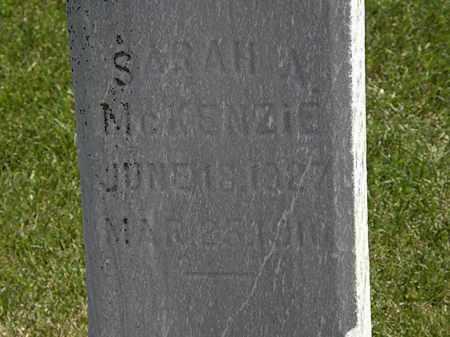 MCKENZIE, SARAH A. - Erie County, Ohio | SARAH A. MCKENZIE - Ohio Gravestone Photos
