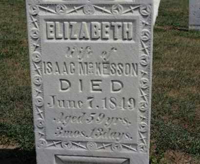 MCKESSON, ELIZABETH - Erie County, Ohio | ELIZABETH MCKESSON - Ohio Gravestone Photos