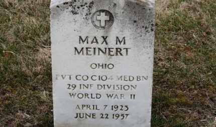 MEINERT, MAX M. - Erie County, Ohio | MAX M. MEINERT - Ohio Gravestone Photos