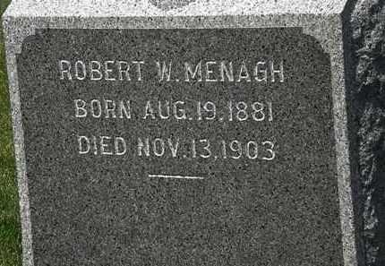 MENAGH, ROBERT W. - Erie County, Ohio | ROBERT W. MENAGH - Ohio Gravestone Photos