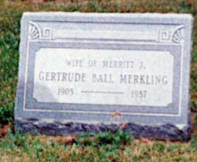 MERKLING, GERTRUDE - Erie County, Ohio | GERTRUDE MERKLING - Ohio Gravestone Photos