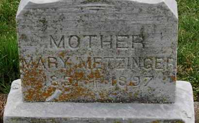 METZINGER, MARY - Erie County, Ohio | MARY METZINGER - Ohio Gravestone Photos