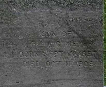 MEYER, JOHN W. - Erie County, Ohio | JOHN W. MEYER - Ohio Gravestone Photos