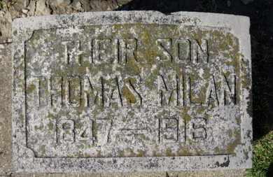 MILAN, THOMAS - Erie County, Ohio   THOMAS MILAN - Ohio Gravestone Photos