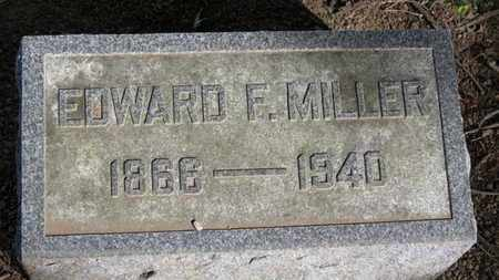 MILLER, EDWARD F. - Erie County, Ohio | EDWARD F. MILLER - Ohio Gravestone Photos