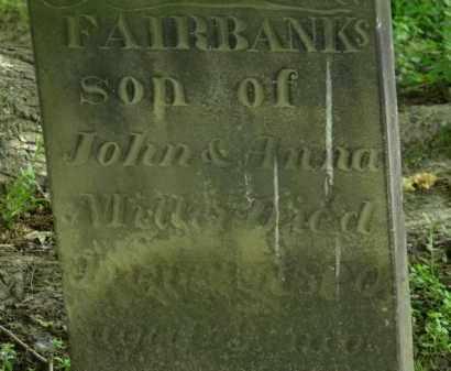 MILLER, FAIRBANKS - Erie County, Ohio | FAIRBANKS MILLER - Ohio Gravestone Photos