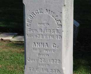 MILLER, GEORGE - Erie County, Ohio | GEORGE MILLER - Ohio Gravestone Photos