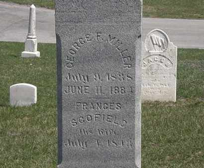 SCOFIELD MILLER, FRANCES - Erie County, Ohio   FRANCES SCOFIELD MILLER - Ohio Gravestone Photos