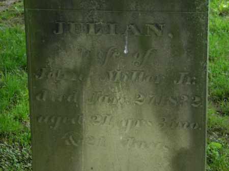 MILLER, JULIAN - Erie County, Ohio   JULIAN MILLER - Ohio Gravestone Photos