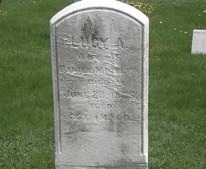 MINKLER, LUCY A. - Erie County, Ohio   LUCY A. MINKLER - Ohio Gravestone Photos