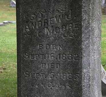 MOORE, ANDREW J. - Erie County, Ohio | ANDREW J. MOORE - Ohio Gravestone Photos