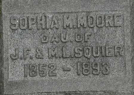 MOORE, SOPHIA M. - Erie County, Ohio | SOPHIA M. MOORE - Ohio Gravestone Photos