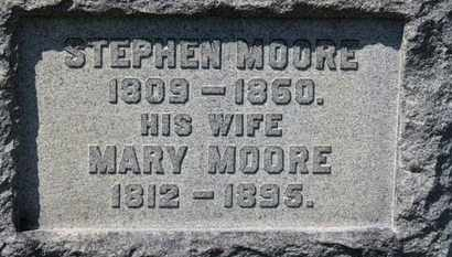MOORE, MARY - Erie County, Ohio | MARY MOORE - Ohio Gravestone Photos