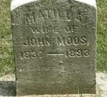 MOOS, MATILDA - Erie County, Ohio | MATILDA MOOS - Ohio Gravestone Photos