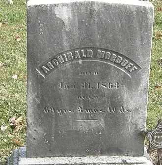 MORDOFF, ARCHIBOLD - Erie County, Ohio   ARCHIBOLD MORDOFF - Ohio Gravestone Photos