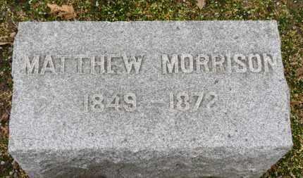 MORRISON, MATHEW - Erie County, Ohio | MATHEW MORRISON - Ohio Gravestone Photos