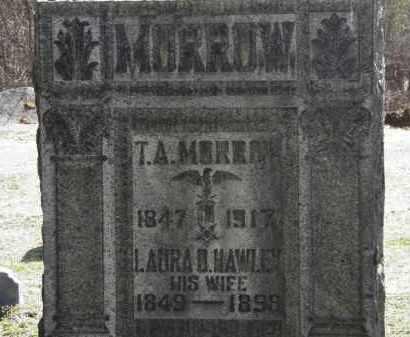 HAWLEY MORROW, LAURA D. - Erie County, Ohio | LAURA D. HAWLEY MORROW - Ohio Gravestone Photos