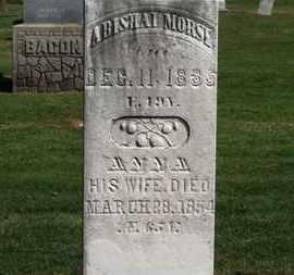 MORSE, ANNA - Erie County, Ohio | ANNA MORSE - Ohio Gravestone Photos