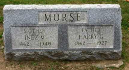 MORSE, INEZ M. - Erie County, Ohio | INEZ M. MORSE - Ohio Gravestone Photos
