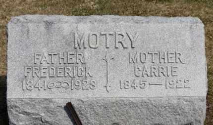 MOTRY, FREDERICK - Erie County, Ohio | FREDERICK MOTRY - Ohio Gravestone Photos