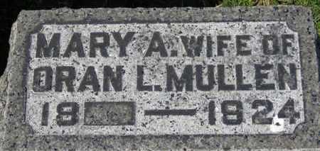 MULLEN, MARY A. - Erie County, Ohio | MARY A. MULLEN - Ohio Gravestone Photos