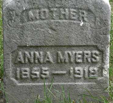 MYERS, ANNA - Erie County, Ohio   ANNA MYERS - Ohio Gravestone Photos