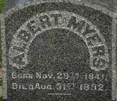 MYERS, ALBERT - Erie County, Ohio | ALBERT MYERS - Ohio Gravestone Photos