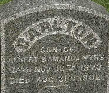 MYERS, CARLTON - Erie County, Ohio | CARLTON MYERS - Ohio Gravestone Photos