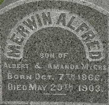 MYERS, EDWIN AKFRED - Erie County, Ohio   EDWIN AKFRED MYERS - Ohio Gravestone Photos