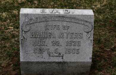 MYERS, EVA D. - Erie County, Ohio   EVA D. MYERS - Ohio Gravestone Photos