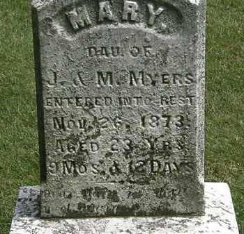 MYERS, J. - Erie County, Ohio | J. MYERS - Ohio Gravestone Photos