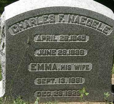 NAEGELE, EMMA - Erie County, Ohio | EMMA NAEGELE - Ohio Gravestone Photos