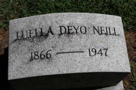 DEYO NEILL, LUELLA - Erie County, Ohio | LUELLA DEYO NEILL - Ohio Gravestone Photos
