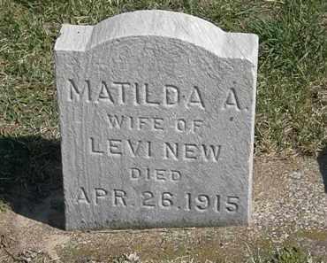 NEW, MATILDA A. - Erie County, Ohio | MATILDA A. NEW - Ohio Gravestone Photos