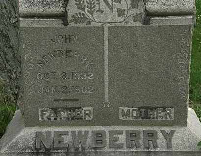 NEWBERRY, JOHN - Erie County, Ohio | JOHN NEWBERRY - Ohio Gravestone Photos