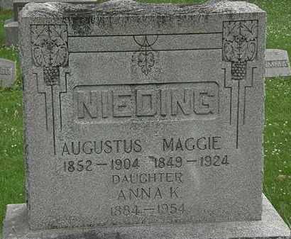 NIEDING, AUGUSTUS - Erie County, Ohio | AUGUSTUS NIEDING - Ohio Gravestone Photos