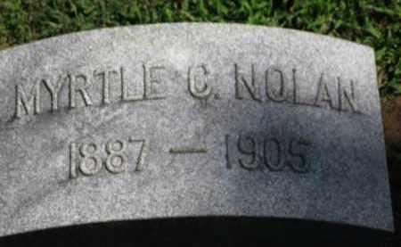 NOLAN, MYRTLE C. - Erie County, Ohio | MYRTLE C. NOLAN - Ohio Gravestone Photos