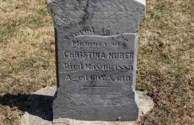 NUBER, CHRISTINA - Erie County, Ohio | CHRISTINA NUBER - Ohio Gravestone Photos