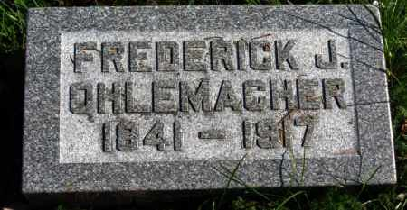 OHLEMACHER, FREDERICK J. - Erie County, Ohio | FREDERICK J. OHLEMACHER - Ohio Gravestone Photos