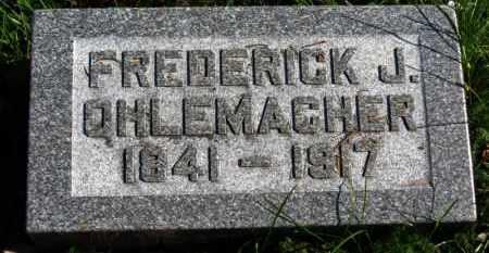 OHLEMACHER, FREDERICK J. - Erie County, Ohio | FREDERICK J. OHLEMACHER - Ohio Gravestone Photos