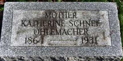 SCHNEE OHLEMACHER, KATHERINE - Erie County, Ohio | KATHERINE SCHNEE OHLEMACHER - Ohio Gravestone Photos