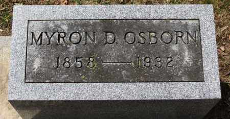 OSBORN, MYRON D. - Erie County, Ohio | MYRON D. OSBORN - Ohio Gravestone Photos